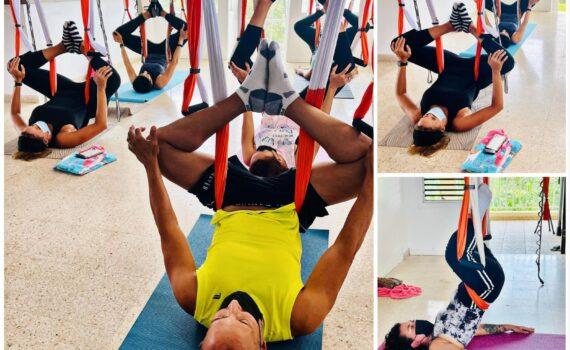 yoga en trapecio
