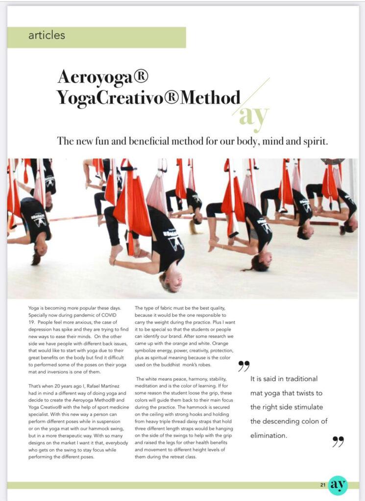 aerial yoga magazine